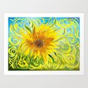 Sunflower Symphony Art Print