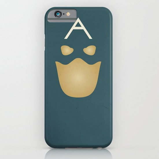 Minimalist Captain America iPhone & iPod Case
