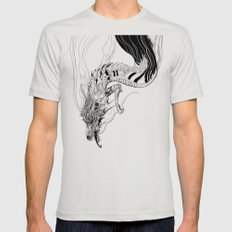 Falling dragon Mens Fitted Tee Silver SMALL
