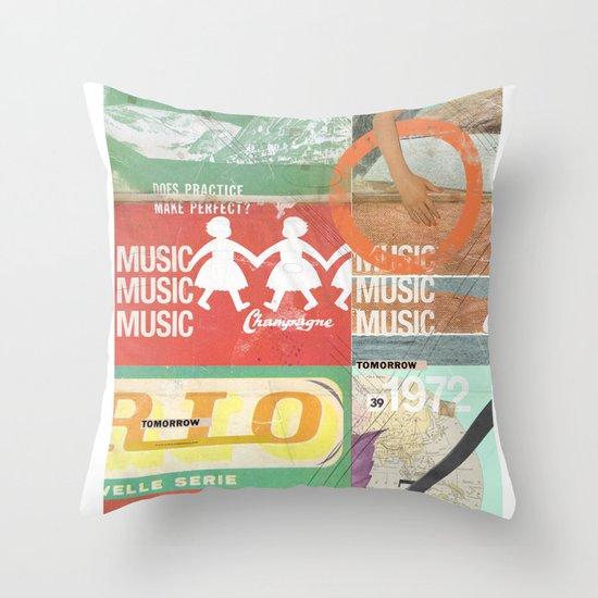 Music, Music, Music Throw Pillow