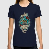 Slime de los Muertos Womens Fitted Tee Navy SMALL