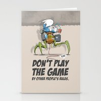 Don't Play The Game By Other People's Rules Stationery Cards