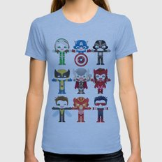 'UNCANNY AVENGERS' ROBOT… Womens Fitted Tee Athletic Blue SMALL