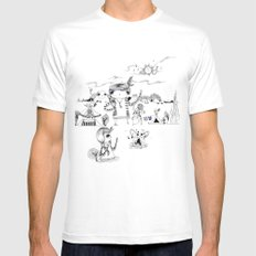 Dancing with me :) Mens Fitted Tee White SMALL