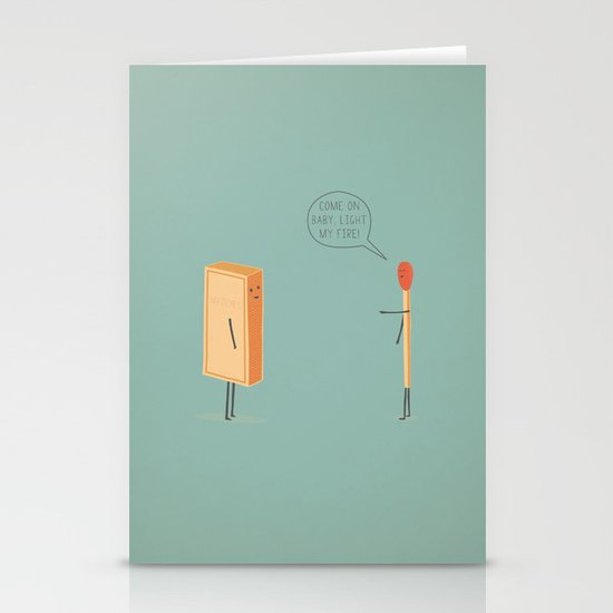 Light My Fire! Stationery Card