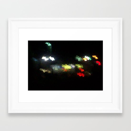 Diamonds on the Streets Framed Art Print