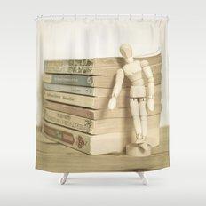 Little man books Shower Curtain