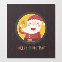 Day 24/25 Advent - Santa… Canvas Print
