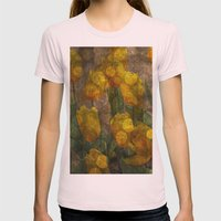 Tulips background Womens Fitted Tee Light Pink SMALL
