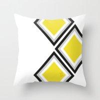 Bumblebee Triangles Throw Pillow