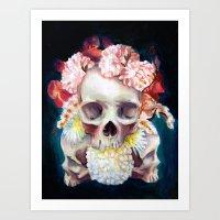 Flowers for Skulls Art Print