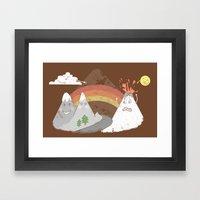 Volcano Fact Framed Art Print