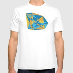 a new geometry White SMALL Mens Fitted Tee