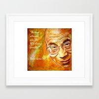Dalai Lama - Quote Framed Art Print