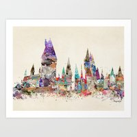hogwarts school of magic Art Print
