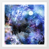 Winter Night Orchard Art Print