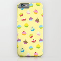 Cupcakes - yellow iPhone 6s Slim Case