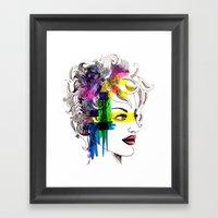 Splatter In My Face Framed Art Print