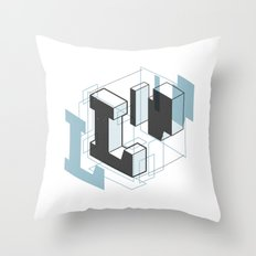 The Exploded Alphabet / L Throw Pillow