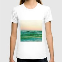pastel sea Womens Fitted Tee White SMALL