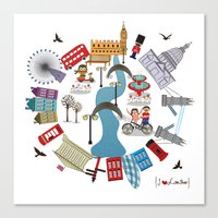 I {❤} London Canvas Print