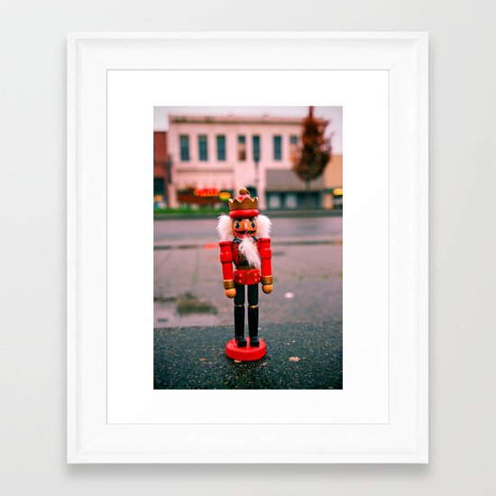 Sidewalk nutcracker Framed Art Print