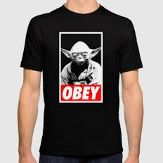 Obey Yoda - Star Wars Mens Fitted Tee Black SMALL