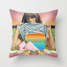 Internal Rainbow II Throw Pillow