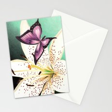 White Lily Stationery Cards