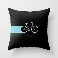 Light Bicycles Throw Pillow