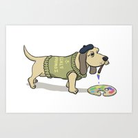 A Painting Dog Art Print