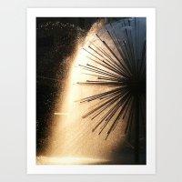 Sunshine and Fountains Art Print