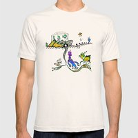 shopping on alpha BIX Mens Fitted Tee Natural SMALL