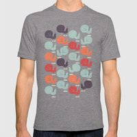Peacock Pattern Mens Fitted Tee Tri-Grey SMALL