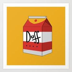Duff in a box Art Print