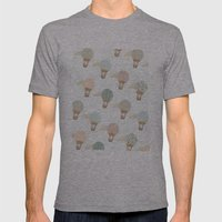 Baloon Collage Pattern  Mens Fitted Tee Athletic Grey SMALL