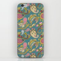 Paisley Teal iPhone & iPod Skin