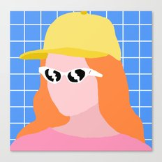 Glasses Girl  Canvas Print