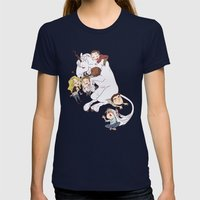 teens and wolves and unicorns Womens Fitted Tee Navy SMALL
