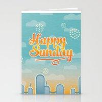 Happy Sunday Stationery Cards