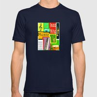 RazzMaTazz Jazz Nite. Mens Fitted Tee Navy SMALL