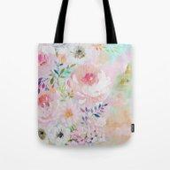 Acrylic Rose Garden  Tote Bag