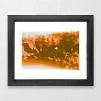 Orange Haze And White Su… Framed Art Print