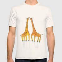 Unicorn Giraffes  Mens Fitted Tee Natural SMALL
