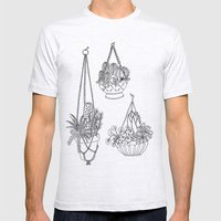macramé plant hanger.  Mens Fitted Tee Ash Grey SMALL