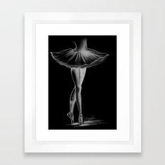 Ballerina - Black and White - Ashley Rose Framed Art Print