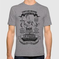 Vintage Boxing Mens Fitted Tee Athletic Grey SMALL
