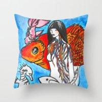 The Sea King's Daughter Throw Pillow