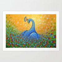 Peacock ... Showing Off Art Print