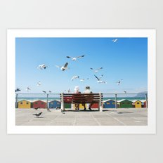 Lunch and the Beach Art Print